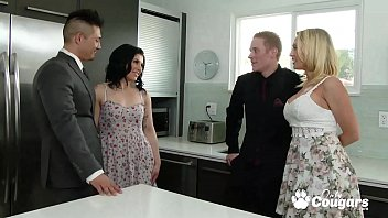 Two horny wives exchange hubbies - Wife Swapping