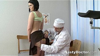 Pretty teen gets her gyno examination