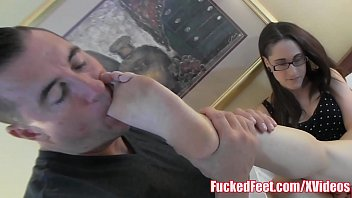 Teen with Glasses gets Feet Worshiped for Fucked Feet!
