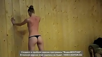 Submissive girl whipped submissively
