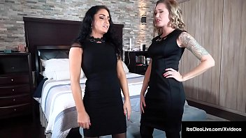 All dressed in black, horny goers, Its Cleo & Reagan Lush eat their wet pussies while 'grieving' or is it 'groping' until they both orgasm! Full Video & More Cleo @ ItsCleoLive.com!