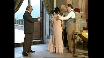 Excellent busty brunette slut gets fucked and face covered with semen by lusty Russian minister to let her benefactor to make a good trade