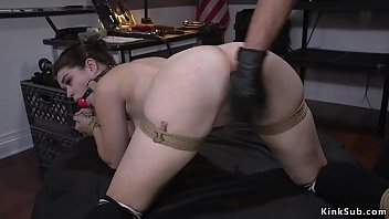 Watch Security officer Tommy Pistol caught shoplifter Anastasia Rose red handed and then in rope bondage plugged her ass before fucked her with big dick preview