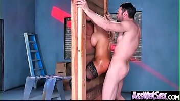 (Bridgette B) Sexy Girl With Oiled Huge Butt Love Deep Anal clip-10