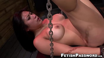 Asian pussy battered in bondage and BJ
