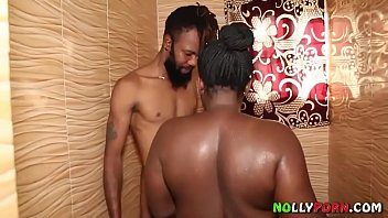 AFRICAN HOT SEX IN THE TOILET WITH BLACK FAT WOMAN