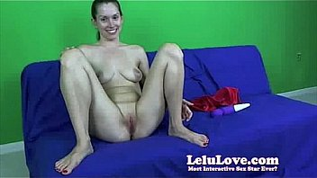 Lelu Love WEBCAM BTS Red Lingerie Double Orgasm - 24camgirl.com