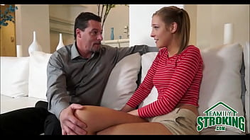 Young And Petite Skinny Stepdaughter With Pigtails Molly Manson Makes A Deal With Stepdad