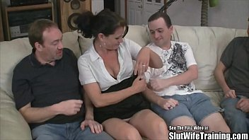 Cum husband love swallowing tied up while who wife