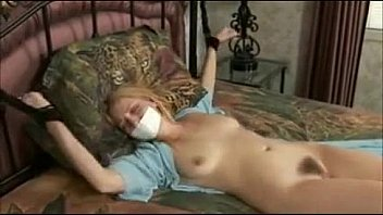 Hot bondage girl tied to bed struggling - fantasticcam.net