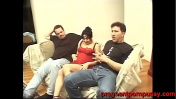pregnant young women gets banged hard by 2 heavy ass white dudes