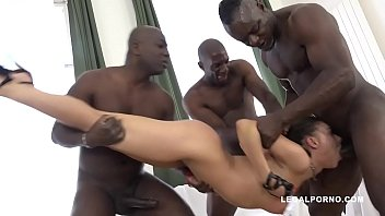 Psycho Henessy is back to face 3 black bulls - Ass & Pussy Demolished!
