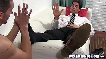 Foot fetish and toe sucking with gays