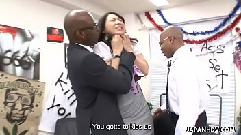 Chiharu has a rough sex toy session with the boys