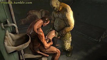 Lare became a sex doll in prison for the ogre inmated 3D fuckfest