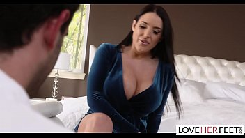 Lusty Milf Gives Amazing Foot Fetish Sex to a Very Lucky Delivery Boy.