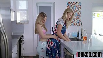 Blonde teen seduced and fucked by her lesbian neighbor