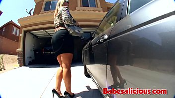 Babesalicious - The Theft Fuck Big titted Blonde Milf with his Big Black Cock
