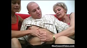 Hey My Grandma Is A Whore #29 - Elderly ladies team up to take on a young man at hot group sex