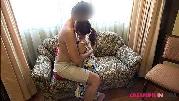 Young Thai girl lets me stuff her tiny cunt and fill her up with jizz