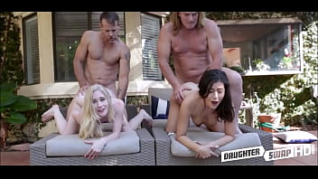 Cute Young Grand Daughters Emma Starletto And Natalie Brooks Have Sex With Each Others Grandpas