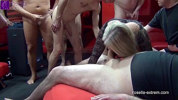 3 cock-hungry girls let innumerable guys fuck and inseminate them! Part 1