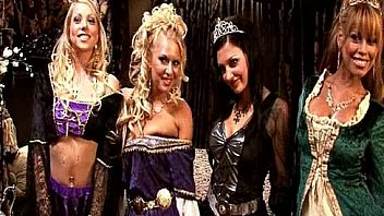 busty clown face aletta ocean gets her wet pussy drilled from behind ⁃ King and queen have a medieval orgy with four hot whores Thumbnail
