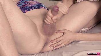 She knows how make his cum fast - prostate anal play with kisses