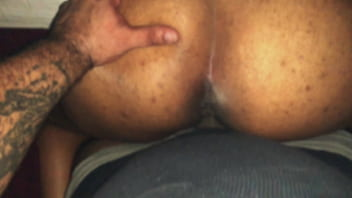Thumb in ass n messy anal creampie