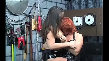 Bizarre bondage video with cutie obeying the filthy play
