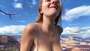 Naughty Roadtrip Sex at the Grand Canyon - Molly Pills - Horny Hiking Amateur Nature Porn HD