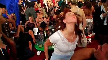 Hot party chicks suck dicks in club orgy Thumbnail