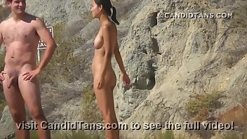 Sexy teen Asian nudist on the beach