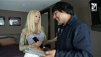 Mexican cable guy fucks big titted horny girl!!! Lolly Ink Thumbnail
