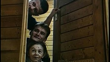 Threesome In A Sauna with 2 Midgets Ladies