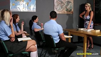 Hot Blonde Teacher Strip A Student