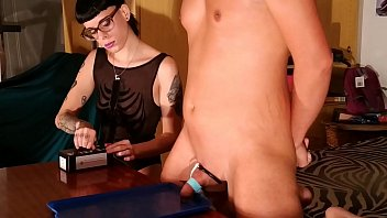 Mistress electric cbt and milking slave boy p2 1080p