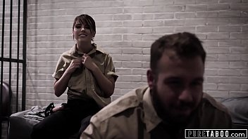 Teen Punished by Dirty Police Officers and Fucked by Strapped Adriana Chechik!