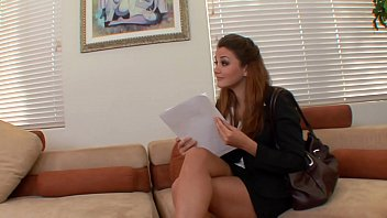 Pretty brunette secetary Allie Haze is not against when her boss fishes in her wet pussy