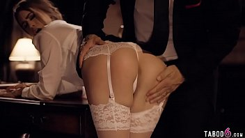Young secretary seduces her boss in his office