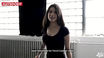 Hot French babe has a surprise at Casting - LETSDOEIT.COM