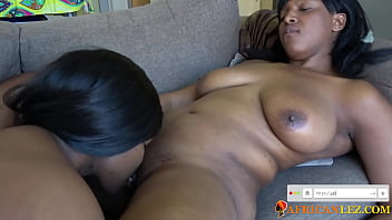 Ebony amateurs eating pussy and fingering woman for first time crazy orgasms