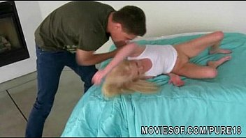 tight 18yo blonde blowjob and rides a cock in reverse cowgirl