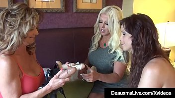 Free strapon Mobile movies, Strap on milfs: deauxma, alura_jenson & syren de mer bang each other with some big rubber cocks in this lesbian threesome! Thumbnail