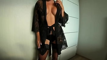 Black Lingerie made him destroy my ASS from Anal