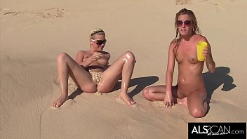 Wild and Crazy Girls Have Fun on Nude Beach