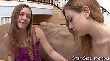 Blonde amateur teen stepsisters eat out and finger pussies