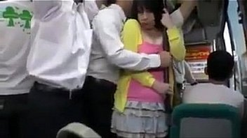 Watch young  jap schoolgirl is seduced by old man in bus preview