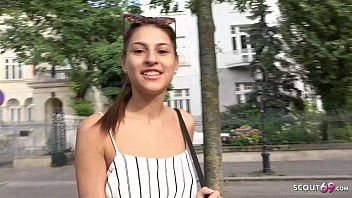 ►► GERMAN SCOUT SKINNY GIRL SECUCE TO SEX FOR CASH AT PUBLIC STREET CASTING ◄◄