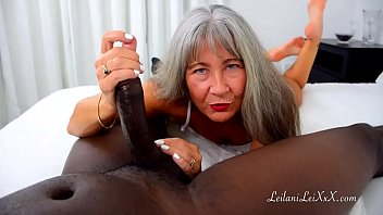 Milf Leilani Gives FJ with White Toes PREVIEW